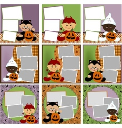 halloween photo frames vector image