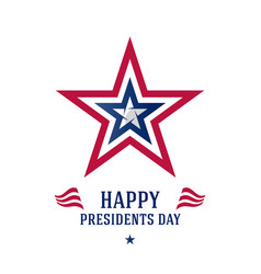 happy presidents day poster with stars and vector image