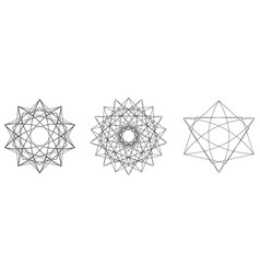 Holiday patterns of stars of snowflakes and vector