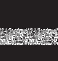 Horizontal banners big city with skyscrapers vector