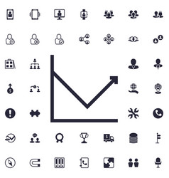 Increase chart icon vector
