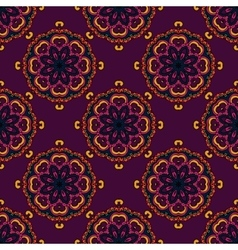 Indian seamless circle pattern vector
