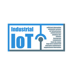 industrial internet of things characteristics vector image
