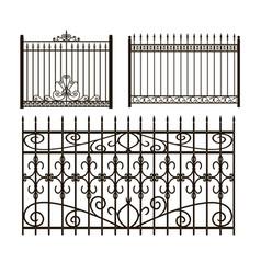Iron fences vector