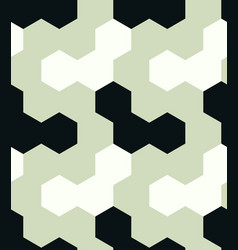 irregular hexagon seamless pattern vector image
