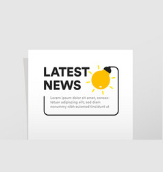 isolated latest news poster template light bulb vector image