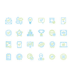 legal approved documents icons warranty certified vector image