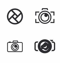 Logo of photography icon vector