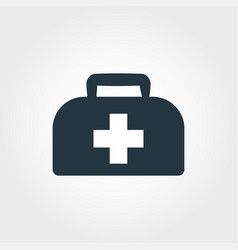 medical bag icon line style icon design medical vector image