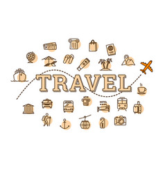 monochrome travel related concept vector image vector image