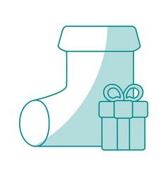 monocromatic sock design vector image