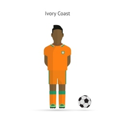 National football player Ivory Coast soccer team vector image