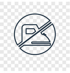 no music concept linear icon isolated on vector image