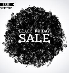 Pencil black friday sale vector image