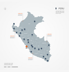 peru infographic map vector image