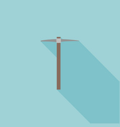 Pick axe icon flat design vector