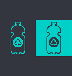 plastic bottle recycling iconflat outline vector image