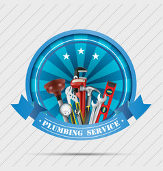plumbing service vector image
