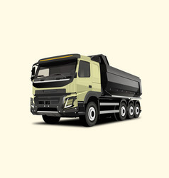 Realistic big wrecker vector