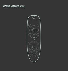 remote control icon line element vector image