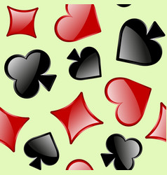 seamless pattern of playing card sings vector image