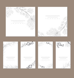 Set of artistic universal cards vector