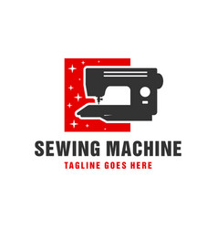 sewing machine industrial logo vector image