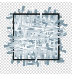 Silver randomly scattered stripes with black frame vector