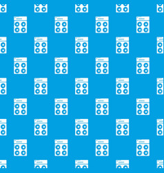speaker box pattern seamless blue vector image