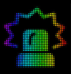 spectral colored dot alarm icon vector image
