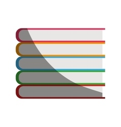 Stack of books icon vector