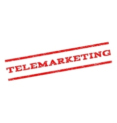 Telemarketing Watermark Stamp vector