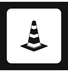 Traffic cone icon simple style vector image