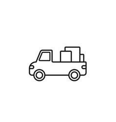 truck cargo icon marketing icon thin line icon vector image