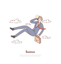 unemployed office worker in free fall vector image