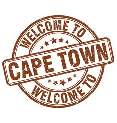 Welcome to cape town brown round vintage stamp vector
