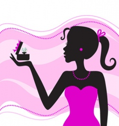 women with jewelry vector image