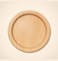 Wooden plate or tray server for meal vector