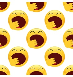 Yawning emoticon pattern vector