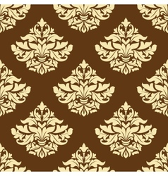 Yellow and brown floral seamless pattern vector