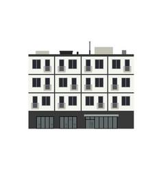 condominium building vector image