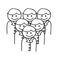 Corporate Team Work vector image vector image