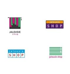 Development jalousie store logos series vector image
