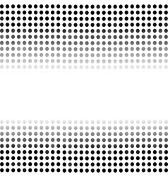 Dotted Black Background Halftone Pattern vector image vector image