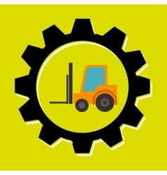 signal forklift isolated icon design vector image