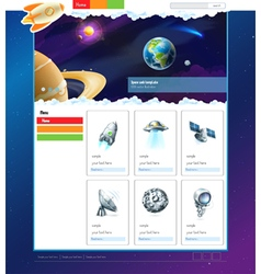 Space website template vector image vector image