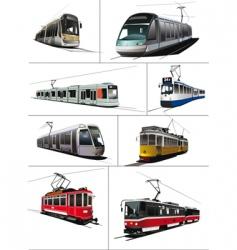 trams vector image vector image
