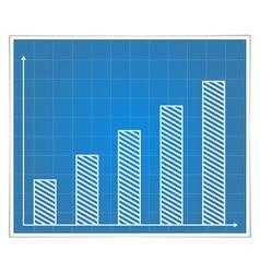 Blueprint bar graph vector image vector image