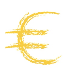 Euro Sign Brushed vector image