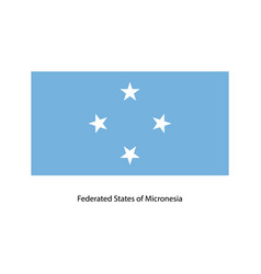 federated states of micronesia flag vector image vector image